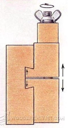 Adjustable Stop Block - Marking and Measuring Tips, Jigs and Techniques - Woodwork, Woodworking, Woodworking Plans, Woodworking Projects In truth, you can likewise find a variety of websites dedicated totally to furniture plans.