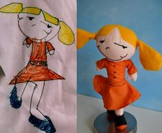 send a childs drawing in and they will create a doll from the drawing- how cute!!!