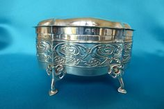 Charming William Hutton and Sons silver box designed by Kate Harris London 1903
