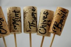 Happy Mother's Day to My Wine Lover Mother:  Wine Cork Herb Markers by The Salvaged Home at Etsy