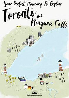 Travel Plan: Exploring Toronto to Niagara Falls – Hand Luggage Only – Tra… Plan de voyage d'une semaine: entre Toronto Vacation, Toronto Travel, Toronto Canada, Toronto City, Canada Ontario, Alberta Canada, Quebec, Niagara Falls Toronto, Torre Cn