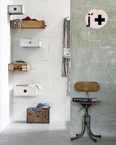 Have always wanted to do this with old crates and drawers.