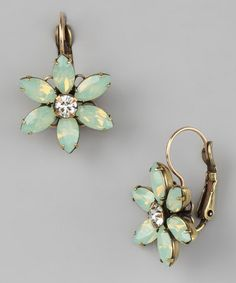 Liz Palacios Pacific Opal Sky Flower Earrings