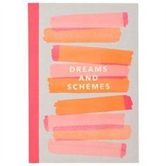 Coptic Journal - Dreams & Schemes, Stripes, Pink