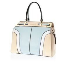 I'm shopping Light blue colour block structured tote bag in the River Island iPhone app.