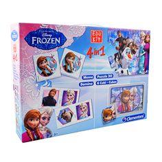 Zestaw #Frozen #Kraina_lodu. Cztery gry w jednym pudełku!  #zabawki_edukacyjne #supermisiopl