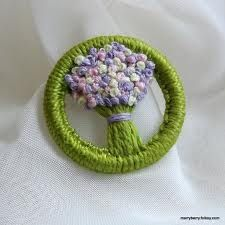 Pretty posy; a variation on the traditional Dorset button.