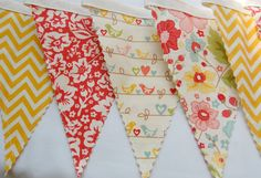 The Sweetest Thing Bunting Banner-Fabric Banner-Fabric Bunting-Flags-Pennants-Riley Blake
