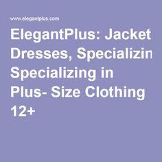 ElegantPlus.com: Jacket Dresses | Specializing in Size 12 +