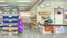 Small grocery store by Vui-Huynh on DeviantArt Scenery Background, Living Room Background, Cartoon Background, Animation Background, 2d Game Background, Episode Interactive Backgrounds, Episode Backgrounds, Anime Backgrounds Wallpapers, Anime Scenery Wallpaper