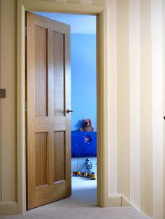 Oak four panel internal door.  Classic and timeless design.  JB Kind's River Oak Derwent door. #oakdoor