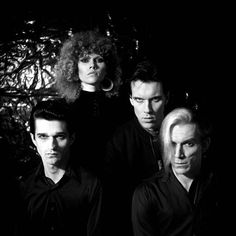 Punk group The Cramps pose for a portrait circa 1985 in New York City New York