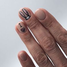 Nail Designs nail designs for fall nail designs for summer g Love Nails, My Nails, Bunny Nails, Easter Nail Designs, Easter Nails, Manicure E Pedicure, Cute Acrylic Nails, Creative Nails, Trendy Nails