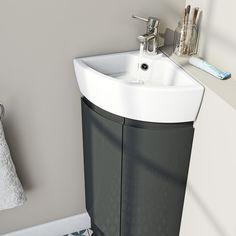 Corner Basins With Vanity Unit small corner sink cheap corner vanity units vanities small toilet and sink WMOSEPH - Kitchen Ideas Corner Sink Bathroom Small, Corner Vanity Sink, Corner Basin, Corner Toilet, Small Toilet Room, Small Corner, Corner Sink Unit, Small Sink, Small Bathrooms