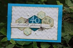 Geburtstagskarte Hexagon