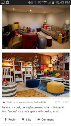 cozy unfinished basement on pinterest