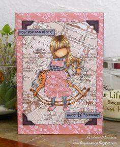 Bonjour Scrap !: Gorjuss girl 16th birthday card