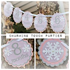 Winter ONEderland/Wonderland Birthday 1st Year Photo Memory Banner. Party Decor by Charming Touch Parties. Fully assembled, customizable. by CharmingTouchParties on Etsy