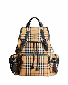 59d1c73c706a Burberry Designer Vintage Medium Check Sailing Canvas Rucksack Backpack