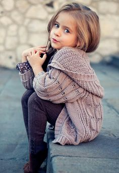 GirL clothes knitted neutral hooded cardigan, super cute!