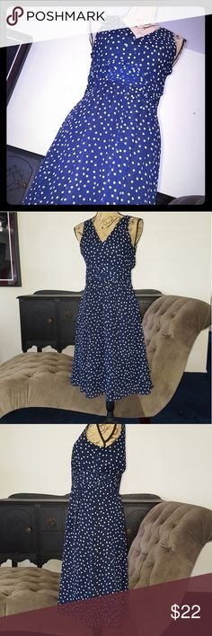 GEORGE Blue Dress White Polka Dots Believe it or not....I bought this dress from WalMart, 22 years ago. The quality is amazing. I also have this dress in red listed for sale in my closet. Excellent Pre-owned Condition gently hand laundered and line dried George Dresses