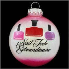 Nail Tech Extraordinaire Glass Ornament