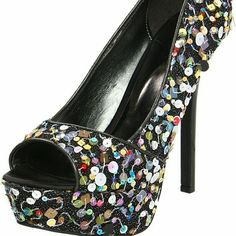 Selling this NIB Carlos Sequined Platforms in my Poshmark closet! My username is: toriblake21. #shopmycloset #poshmark #fashion #shopping #style #forsale #Carlos Santana #Shoes