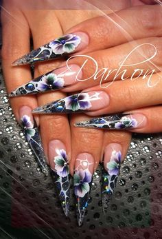 Nail Art Gallery - simple one stroke