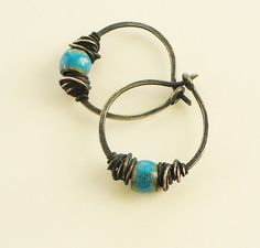 love these!  The beads really speak in this simple distressed design.