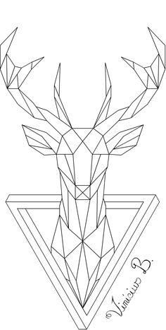 Geometric Deer 1 by MrDrawing