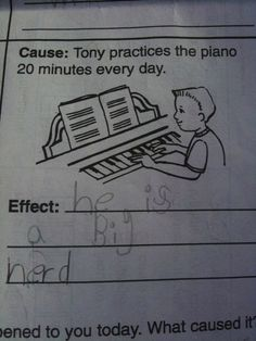 Hilarious answers on schoolwork