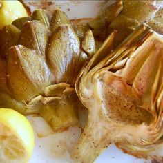 Lemon Pepper Roasted Artichokes will make you even happier spring is here!