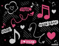 Neon music notes | ... dohdah submitted on sep 17 2010 tags music note notes symboles heart