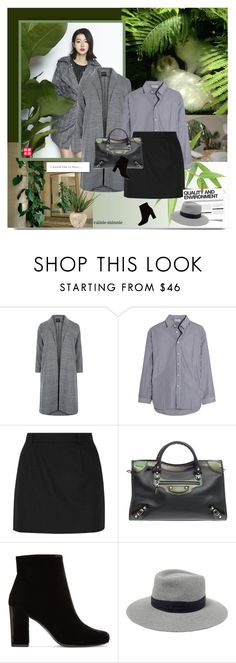 """""""Love by Nature"""" by rainie-minnie ❤ liked on Polyvore featuring Hstyle, New Look, Balenciaga, Yves Saint Laurent, BoConcept, Maison Michel and John-Richard"""