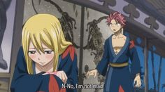 I love how she chooses Natsu out of all the guys and she gets SO happy when she 'sees' two Natsu's