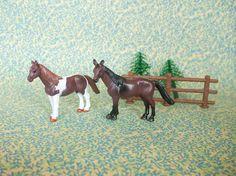 Retro Horse Cake Topper Set