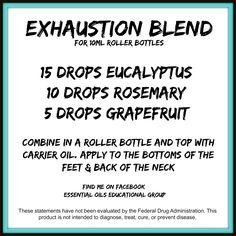 Exhaustion Blend ~ doterra A great blend to help support your body when you feel utterly exhausted!