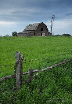 Old Barns And Windmills | Barn and windmill, Saskatchewan | Flickr - Photo Sharing!