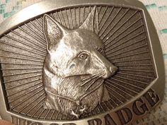 Vintage Solid Pewter Belt Buckle  -  Wood Badge Fox Belt Buckle  -  17-470 by BubbiesMemories on Etsy