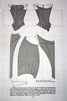 Cardboard Corset Pattern, Nora Waugh, 1680s