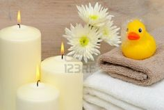 Rubber Ducky and Candle  Bathroom