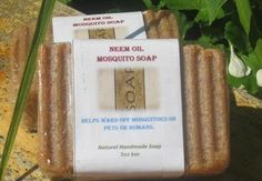 Handmade Neem Oil Soap  Great for repelling mosquitos, and bugs.  Also good for problem skin.