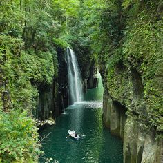 Another one of Japan's natural beauties, Takachiho Gorge, Miyazaki, Japan by ippei + janine, via Flickr