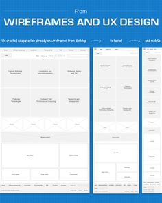 Responsive web design wireframes