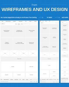 Responsive web design wireframes