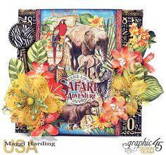 Scrap, Travel, and Bark!   Safari Adventures mini and envelope made from square tags and a policy envelope.  Link to tutorial on Maggi's blog.