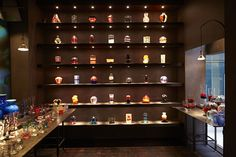 A space that dialogues with the transparency and solidity of the Murano Crystal works #ArchiJuice #RetailDesign