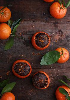 Cake Baked in a Mandarin