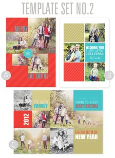 $2.00. 2012 Christmas Card Templates from Simple as That. #christmas #cards #templates