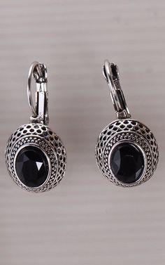 fbe703d42 2017 New arrival Black Gem Stone Drop Earrings Clip Earring Cheap Earrings,  Clip On Earrings